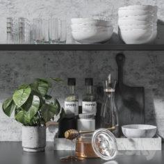 Kitchen set 5                                      3D Model
