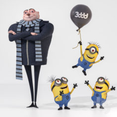 Gru and Minions                                      3D Model