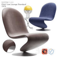 VERPAN SYSTEM 123 LOUNGE CHAIR STANDARD                                      3D Model