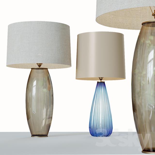 Grand Modern Studio Art Glass Buffet Lamp                                      3D Model