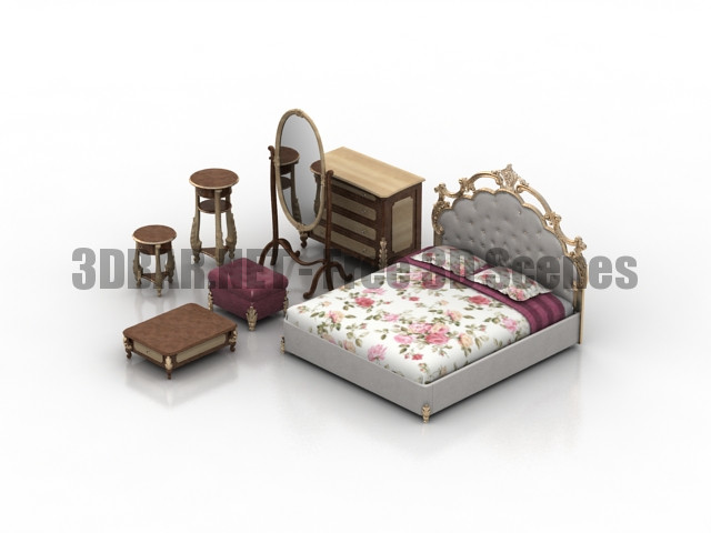 Bed Sorrento Dream Land 3D Collection