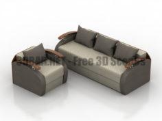 Pan Divan Kvebek Sofa and Armchair 3D Collection