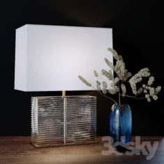Statement Piece Crystal Block Console Lamp                                      3D Model