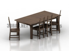 Ikea Sturnes Kaustby Table Chairs 3D Collection