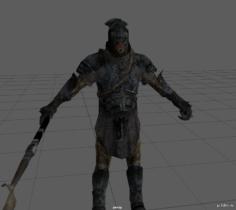 Uruk-Soldier Lowpoly 3D Model