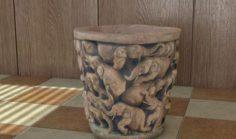 Decorative Handmade Vase 3D Model