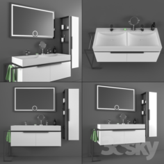 DRN bathroom cabinet and sink set                                      3D Model