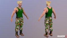 Frank West Guile Costume 3D Model