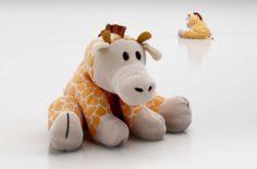 Plush Giraffe Toy 3D Model