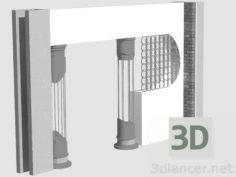 3D-Model  Decorative columns