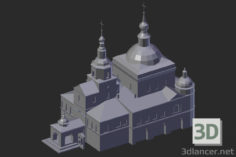 3D-Model  Moscow. Danilov Monastery. Church of the Holy Fathers of the Seven Ecumenical Councils