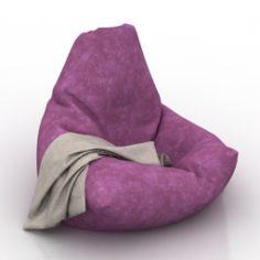 Amazing Bean Bag 3D Model In Max Fbx C4D 3Ds Stl Obj Pabps2019 Chair Design Images Pabps2019Com