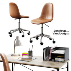 Jysk / Jonstrup Chair + Vandborg Table                                      3D Model
