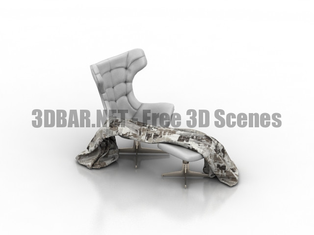 Potrona frau Regina 2 Armchair 3D Collection