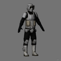 Scout trooper 3D Model