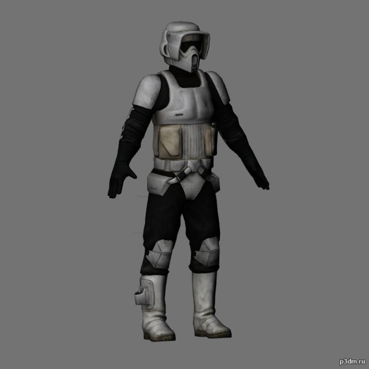 Scout trooper 3D Model