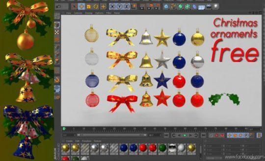 Christmas Ornaments Pack 3D Model