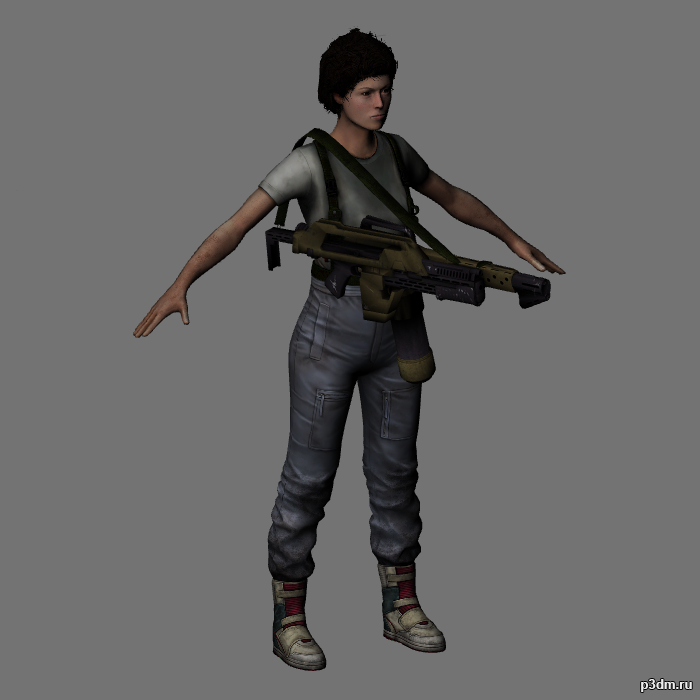 Ellen Ripley 3D Model