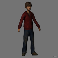 Freddie Highmore 3D Model