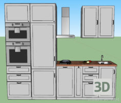 3D-Model  Ikea Kitchen