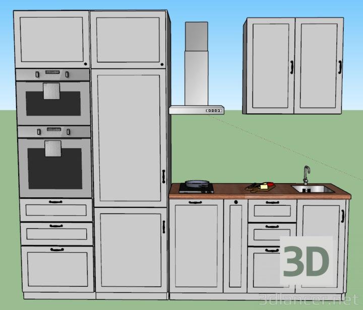 3D-Model  Ikea Kitchen