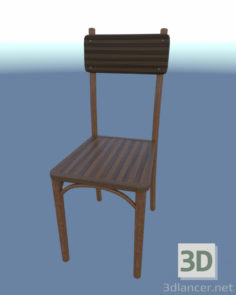 3D-Model  Chair simple (wood)