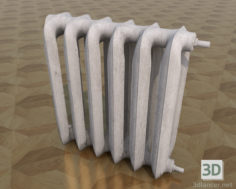 3D-Model  Battery (radiator) heating, painted cast iron.