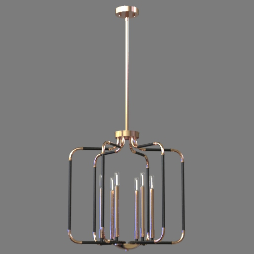 Jairo 6 Light Pendant Lamp 3D Model