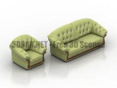 Solsberri britannica sofa armchair 3D Collection