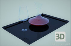 3D-Model  glass with carafe