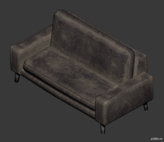 Office Couch 3D Model