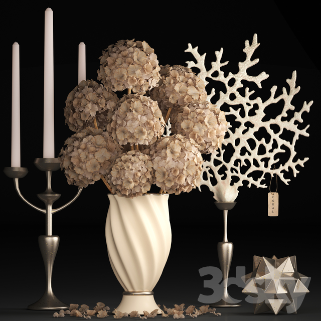 Bouquet of dried flowers 71.                                      3D Model