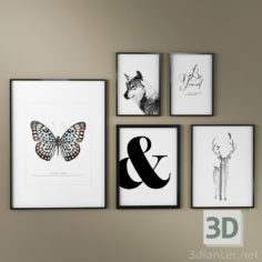 3D-Model  Framed paintings