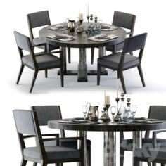 Bernhardt Linea Dining Set                                      3D Model