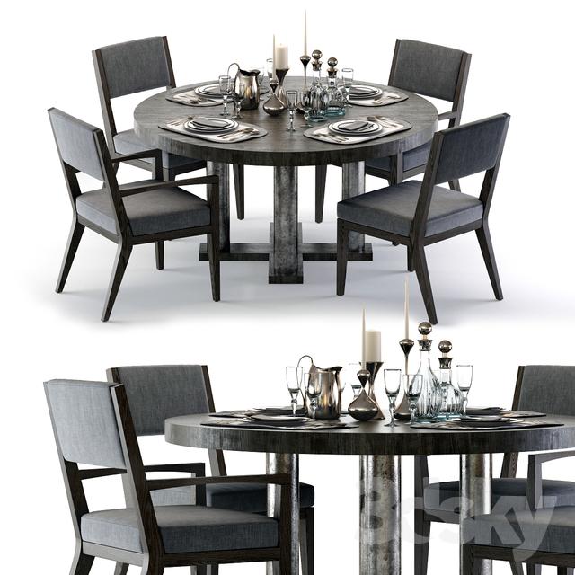 Bernhardt Linea Dining Set                                      3D Model