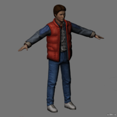 Marty McFly 3D Model