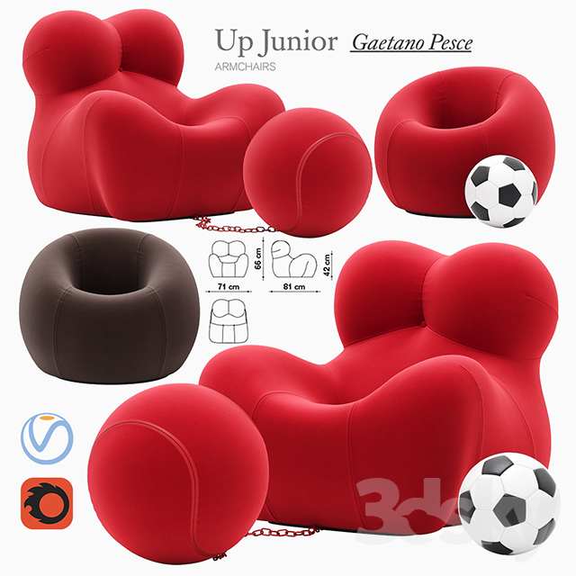 Up Junior armchair                                      3D Model