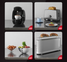 Kitchen Appliances and Dishes 3D Model Collection