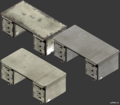 Office Table (pre war, second hand and after war) 3D Model