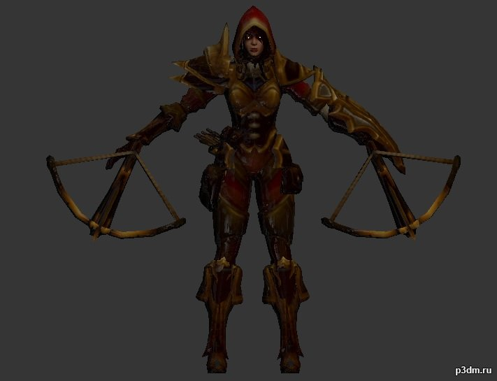 Heroes of the Storm Nova 3D Model