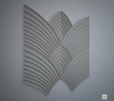 3D-Model  Wings of Phoenix, wall 3d panel