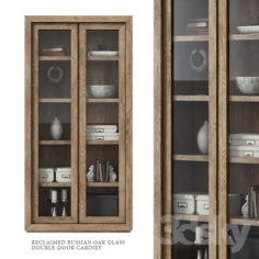 Restoration Hardware / Reclaimed Russian Oak Glass Double-Door Cabinet                                      3D Model