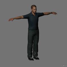 Paul Walker 3D Model