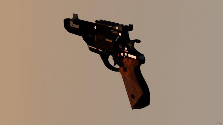 Pistol Revolver BO4 3D Model