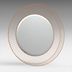Bricius Round Mirror 3D Model