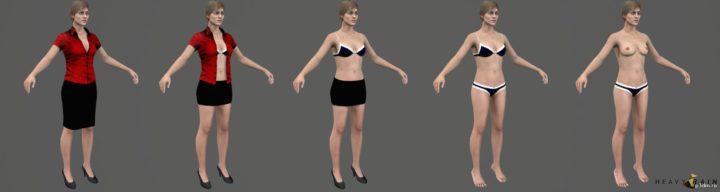 Madison Paige Club Clothes 3D Model
