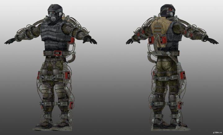 Exoskeleton 3D Model