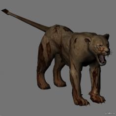 Zombie lionesse 3D Model