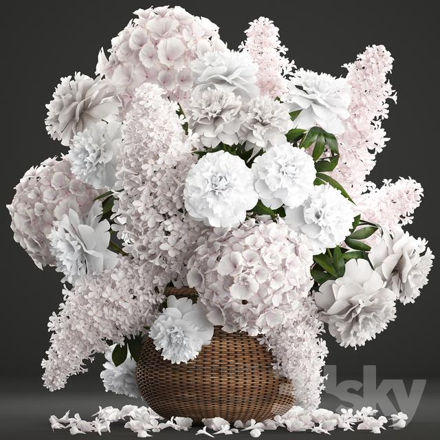 Bouquet of flowers 82.                                      3D Model