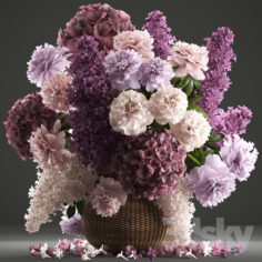 A bouquet of flowers 83.                                      3D Model